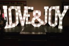 LOVE & JOY Letter Lights