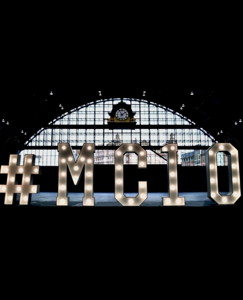 #MC10 light up signage at Manchester Central