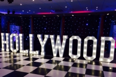 HOLLYWOOD marquee letters at Chester Races