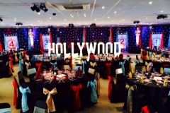 HOLLYWOOD vintage marquee letters at Chester Races