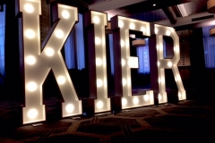 KIER letter lights at The Palace Hotel, Manchester