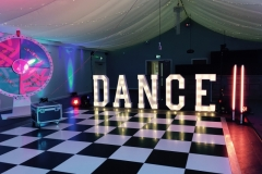 Our DANCE letters on hire with the BBC