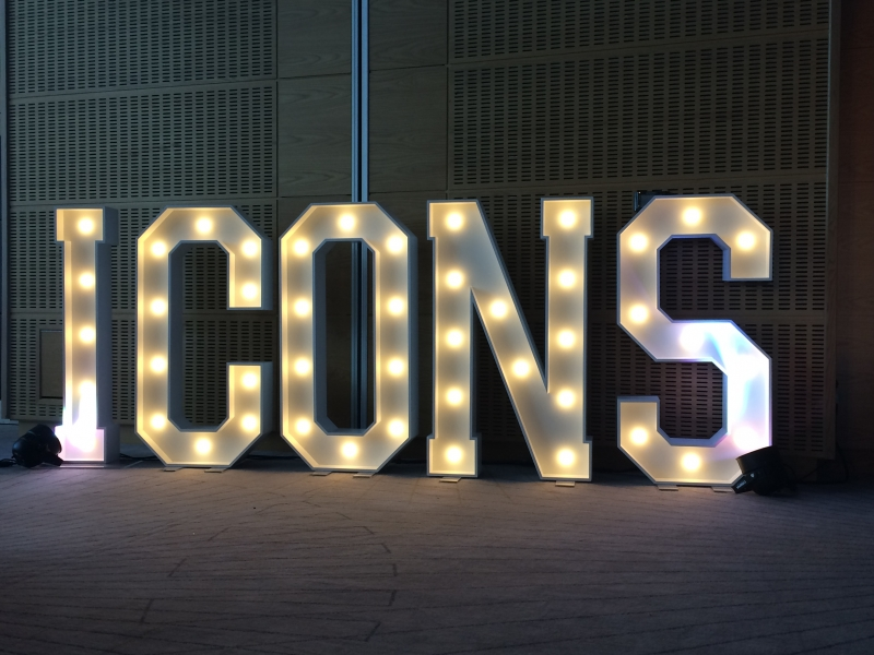 ICONS letter lights for a corporate summer ball