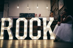 ROCK Letter Lights