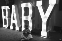 BABY light up letters for a baby shower