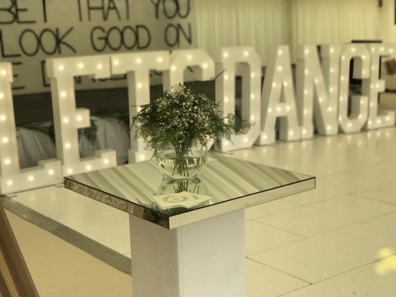 LETS DANCE marquee letter lights