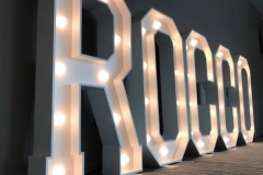ROCCO lighted letters at Alberts Worsley