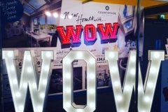 WOW light up letters at Liverpool Echo Arena