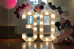 Light Up Numbers with Balloon Arch