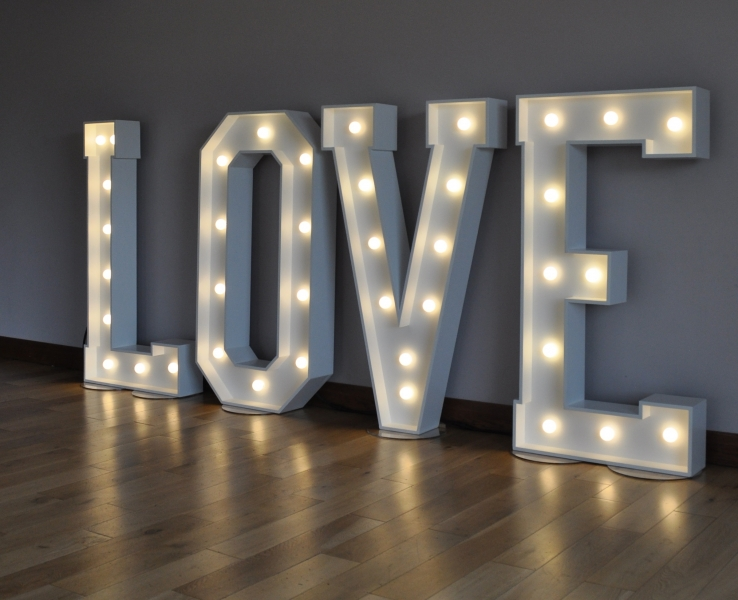 LOVE lights at The Fisherman's Retreat, Bury
