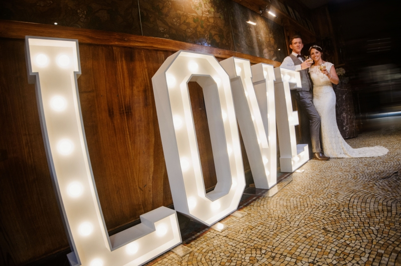 LOVE light up letters at The Belle Epoque, Knutsford, Cheshire