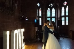 LOVE letters at Peckforton Castle, Cheshire
