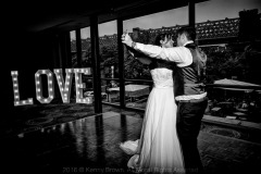 LOVE lighted letters at The Castlefield Rooms, courtesy of Kenny Brown Photography