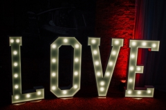 LOVE light up letters at The Place Aparthotel, Manchester
