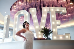 Large letter lights can provide the perfect photo opportunity!