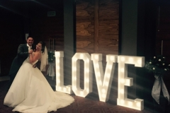 Our letter lights providing a beautiful ambience at Rookery Hall in Cheshire