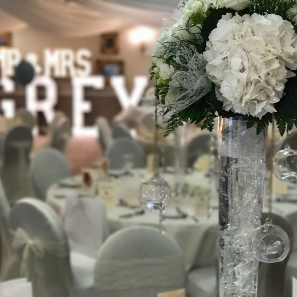 Mr & Mrs GREY LED letters