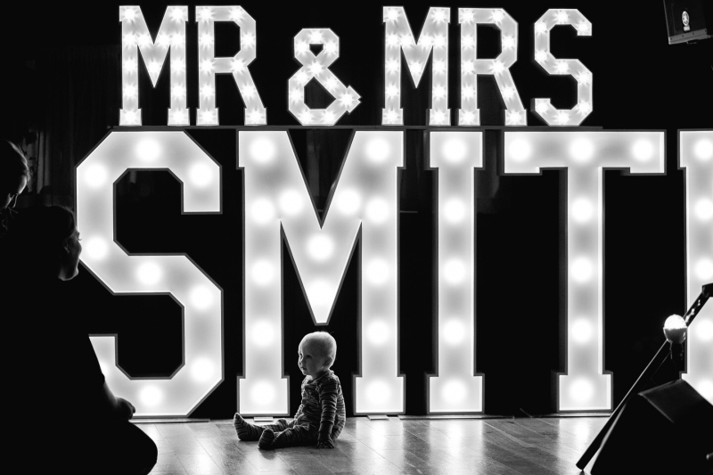 Mr & Mrs SMITH letter lights