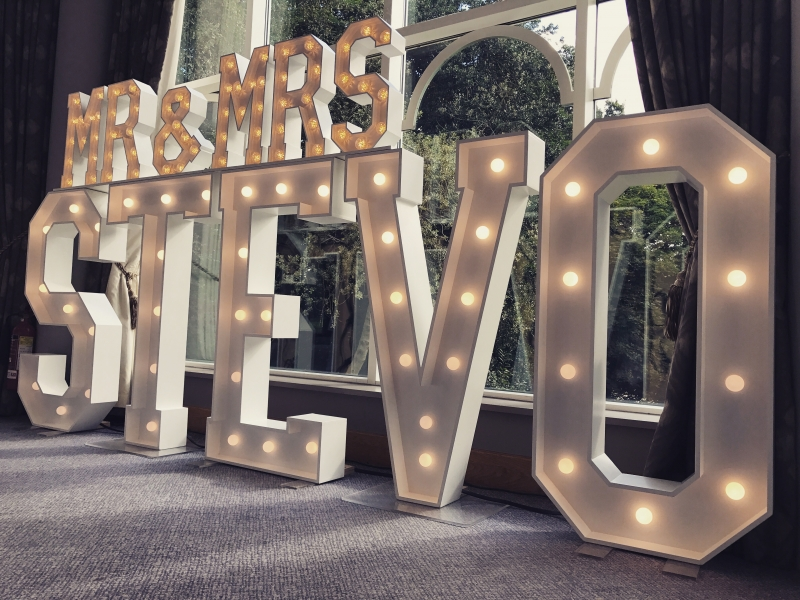 Mr & Mrs STEVO Large Wedding Letters
