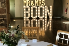Mr & Mrs BOON light up wedding letters