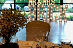 Mr & Mrs BRICK marquee letters