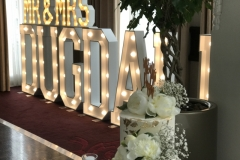 Mr & Mrs DUGDALE giant wooden letters