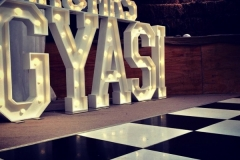 Mr & Mrs GYASI Light Up Letters at Warren Farm, Liverpool