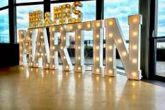 Mr & Mrs MARTIN giant marquee letters