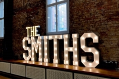 The SMITHS LED letters at the Halle Manchester