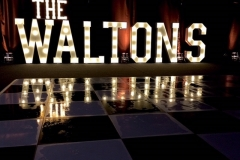 The WALTONS LED letters at Nunsmere Hall, Cheshire