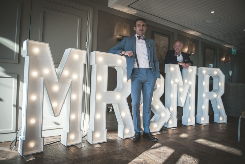 MR & MR light up letters at King Street Townhouse