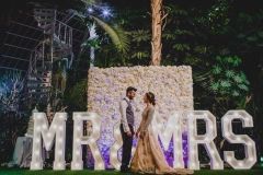 MR & MRS letter lights at The Palm House Liverpool