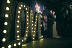 Rustic LOVE light up wedding letters