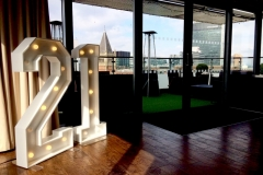 21 Light Up Numbers for a 21st Birthday at Double Tree, Manchester