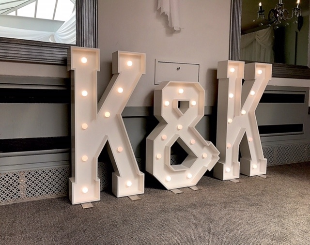 K & K led initials at Stirk House. Clitheroe