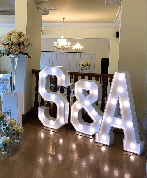S & A Wedding Letters at West Tower, Ormskirk
