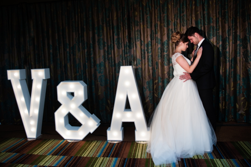 Our Light Up Letters showcased at The V & A Hotel, Manchester