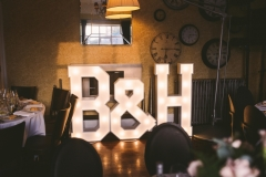B & H letter lights at Didsbury House Hotel