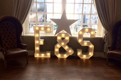 E & S letter lights at 30 James Street, Liverpool