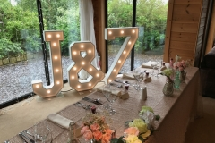J & Z light up initials at Styal Lodge