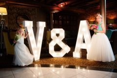 Our lovely V & A Light Up Letters at The Victoria & Albert Hotel