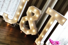 J & T illuminated letters adding some extra sparkle to a lovely wedding