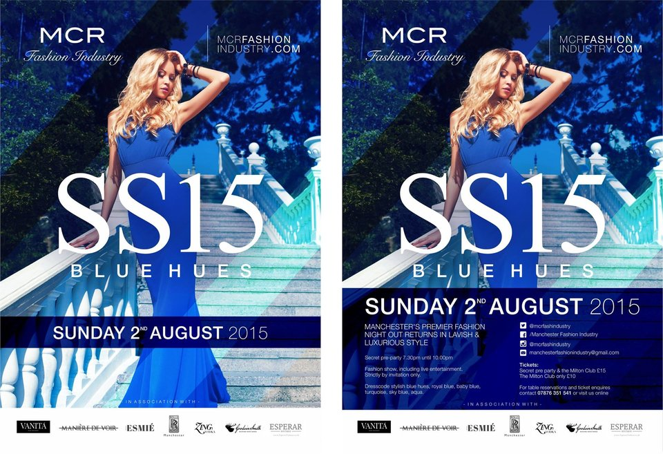 Words To Glow attends Manchester Fashion Industry's SS15 Blue Hues Event