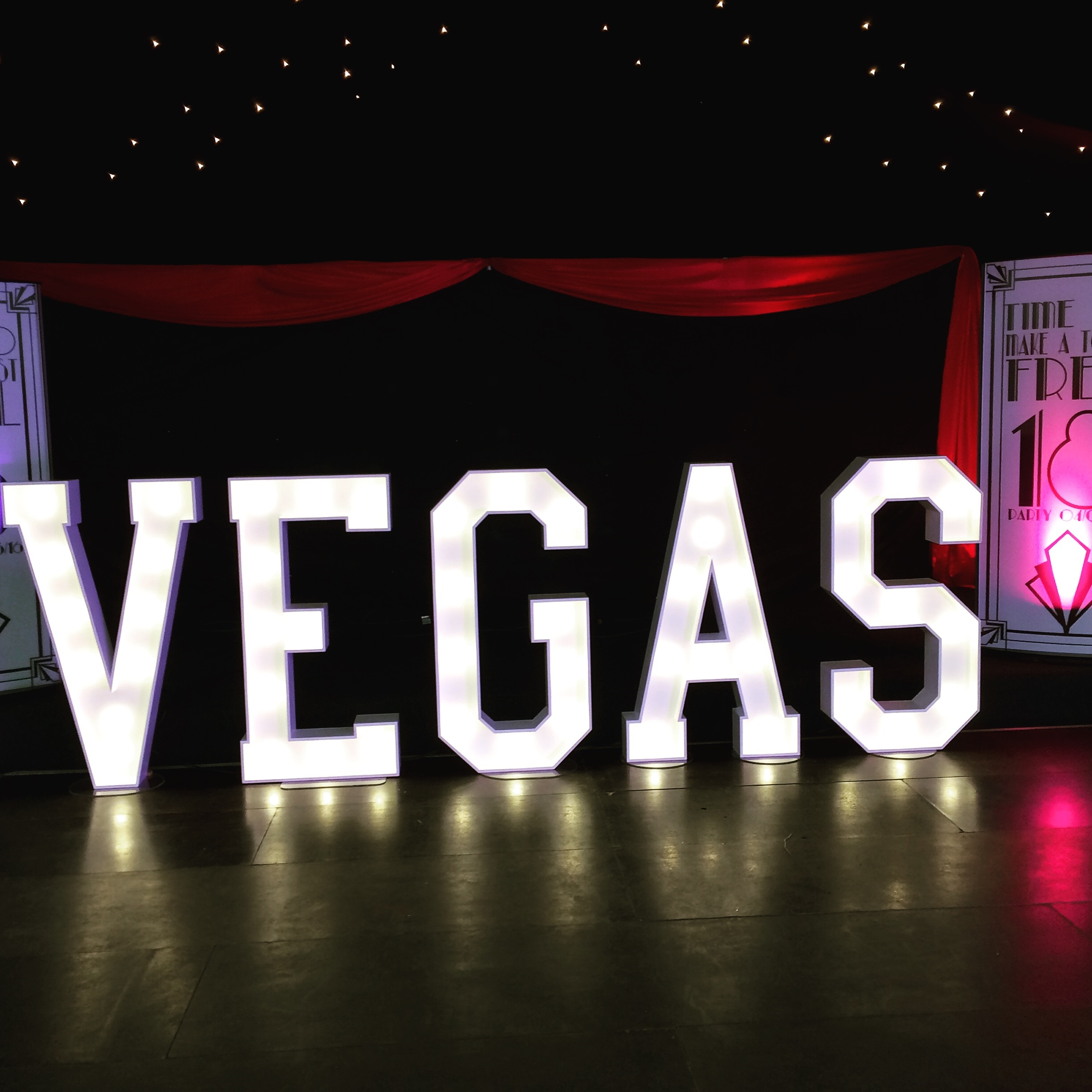 Vegas words to glow light up letters venue decor for Marry me light up letters