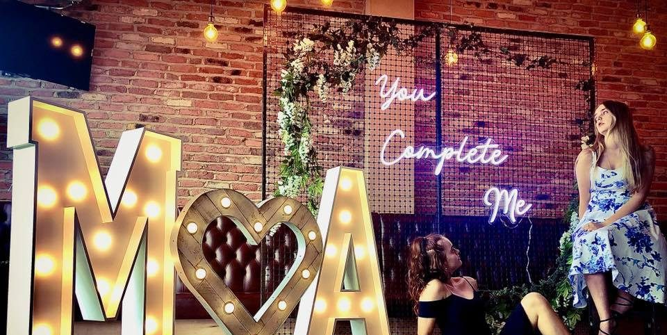 Our neon light up signage completes any party!